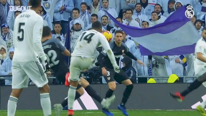 Goles Increíbles: El zapatazo de Casemiro ante el Sevilla