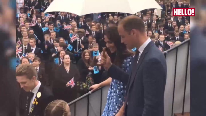 Prince William and Kate head back to school for mental health campaign