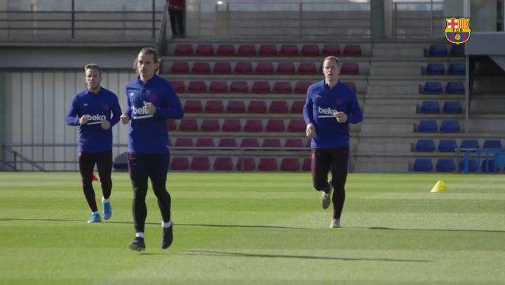 El Barça ya piensa en el duelo de Champions ante el Slavia