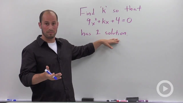 The Discriminant of a Quadratic Equation - Problem 3