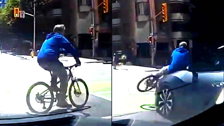 Lovløs syklist blir meid ned av bilist