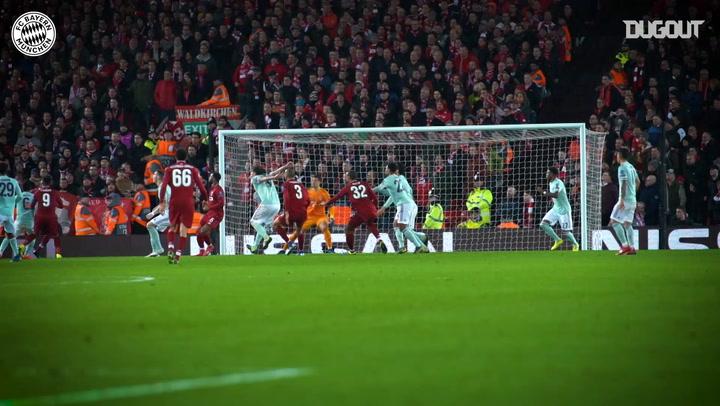 Javi Martínez in Action Vs Liverpool