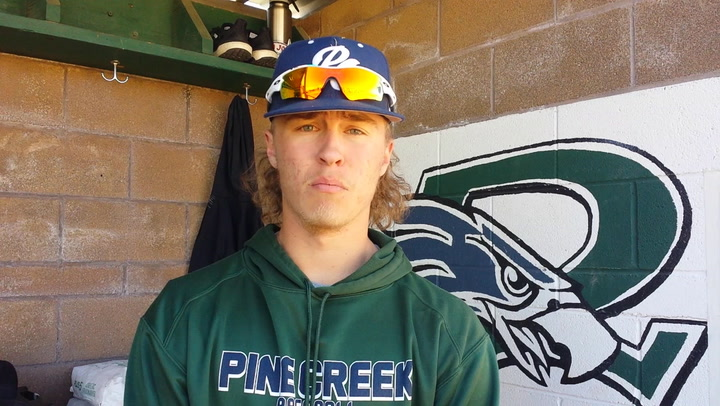 Justin Olson talks about his Pine Creek baseball team.