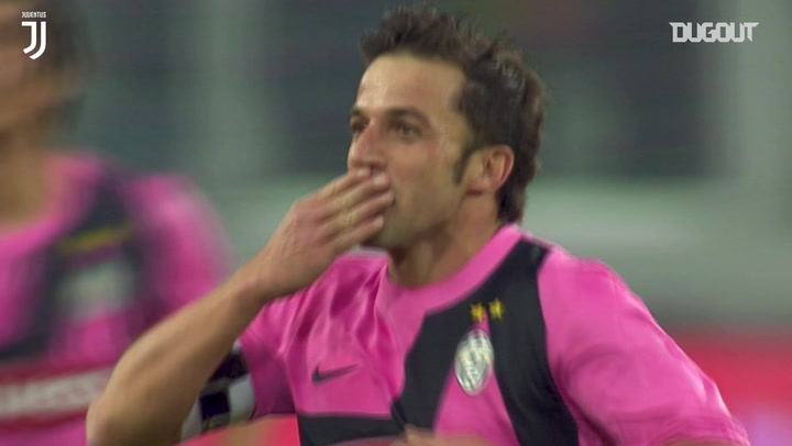 Del Piero's first goal at Allianz Stadium