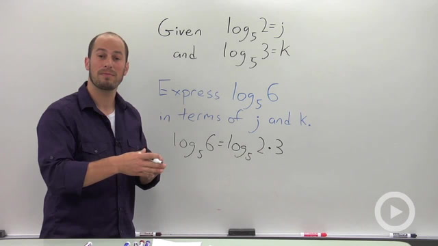 Evaluating a Logarithmic Expression in terms of Known Quantities - Problem 1