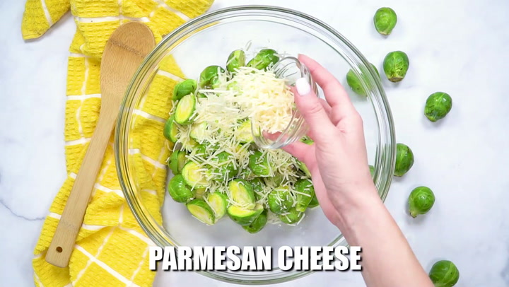 OVEN ROASTED PARMESAN BRUSSEL SPROUTS