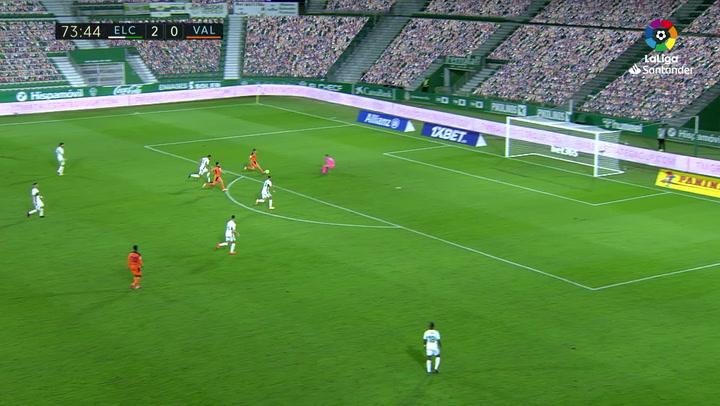 Gol de Lato (2-1) en el Elche 2-1 Valencia