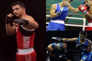Brandon Chávez, promesa del boxeo hondureño, en un sparring con Teófimo López