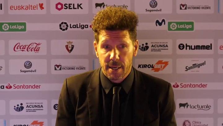"""Simeone: """"Joao Félix es un jugador determinante"""""""