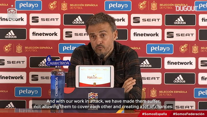 Luis Enrique: 'The players have been outstanding'