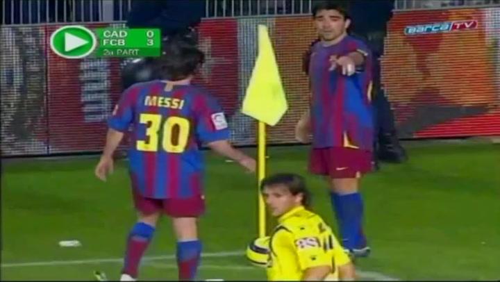 El resumen del partido Cádiz-Barça (2005-2006)
