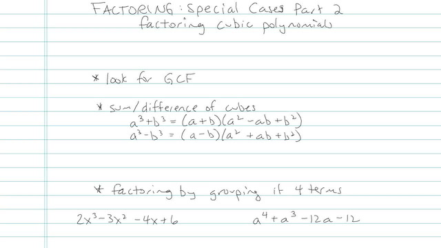 Factoring: Special Cases Part II - Problem 6