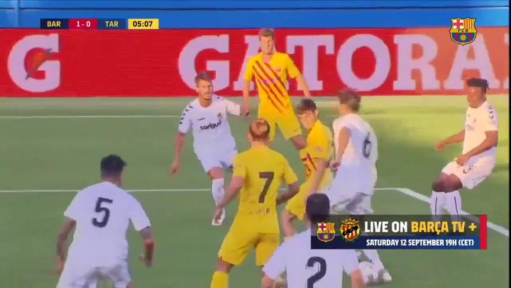 Barça-Nàstic. Gol de Dembélé (1-0)