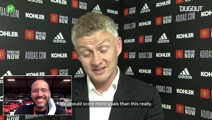 Solskjær sees funny side after being muted at press conference