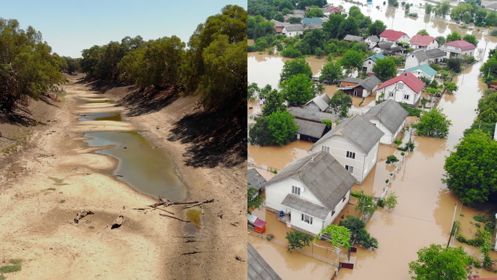 Climate change leading to more severe floods and droughts