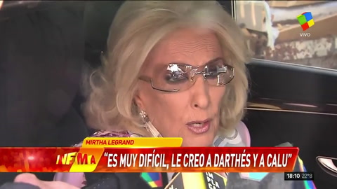 Mirtha Legrand: Es difícil