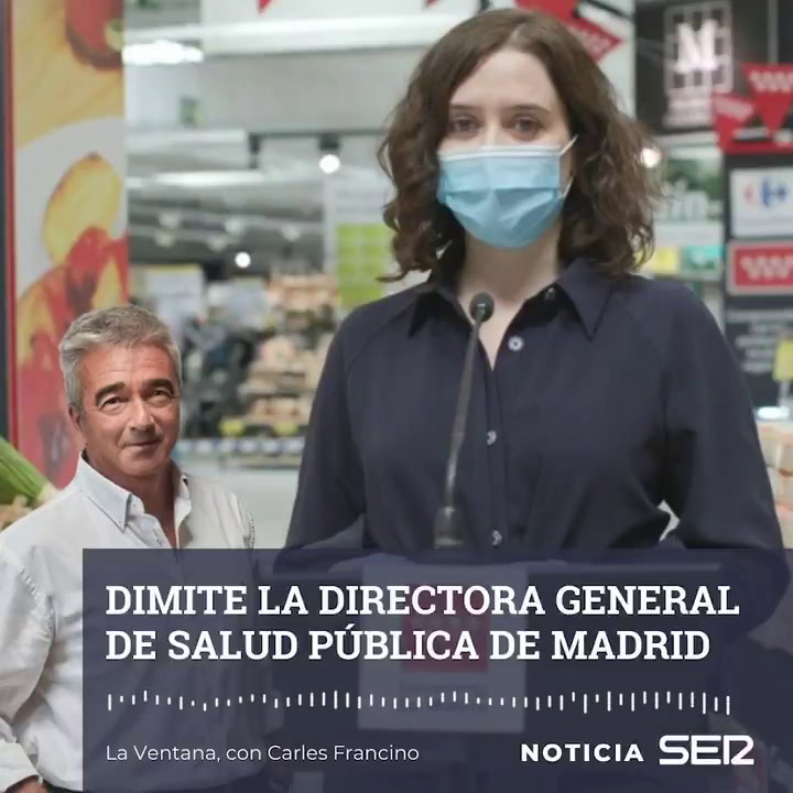 Dimite la directora general de Salud Pública de Madrid