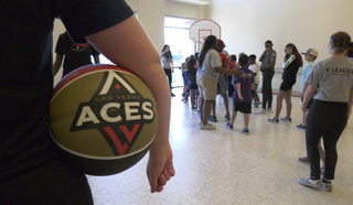 Las Vegas Aces Host Basketball Clinic at Local YMCA – Video