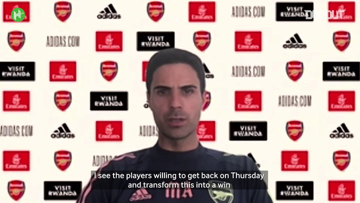 Arteta: Arsenal players are hurt by club's poor form