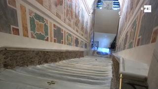 El Vaticano exhibe la Escalera Santa que subió Jesús para ser juzgado