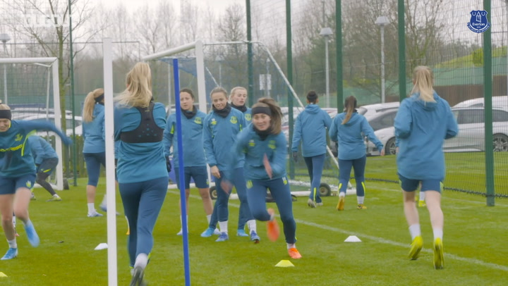 Everton Women train ahead of Brighton and Hove Albion meeting