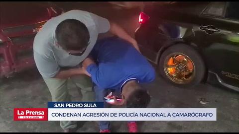 Condenan agresión de Policía Nacional a camarógrafo hondureño