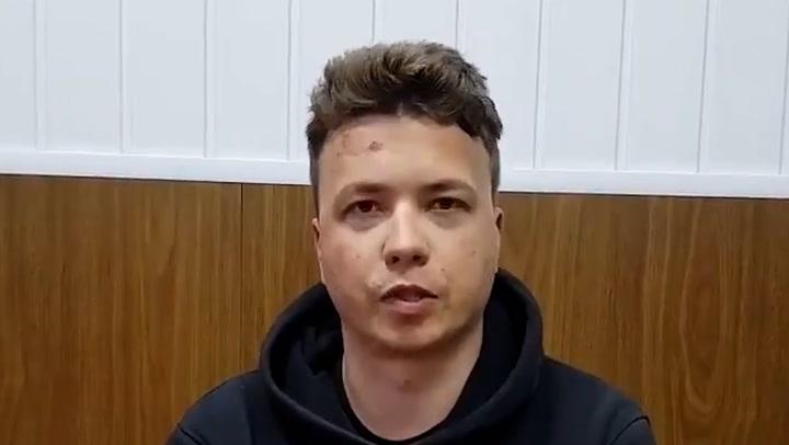 Arrested Belarusian journalist Roman Prostasevich appears in new video