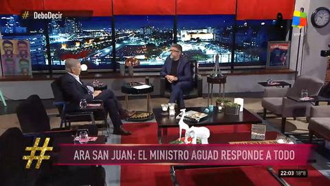 Aguad: Sería un disparate invertir 4 mil millones de dólares en reflotar el ARA San Juan