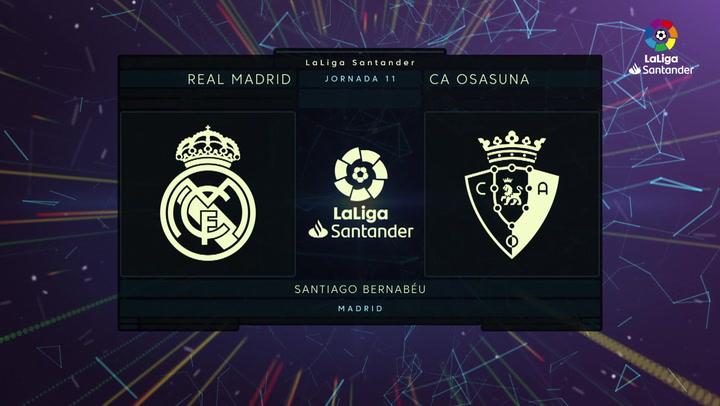 LaLiga Santander (Jornada 11): Real Madrid 0-0 Osasuna