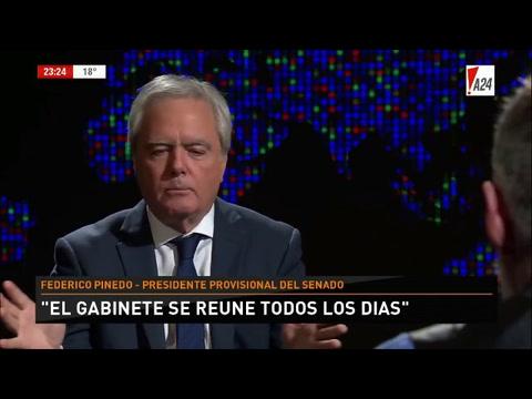 Pinedo: Marcos Peña es la visión estratégica del gobierno