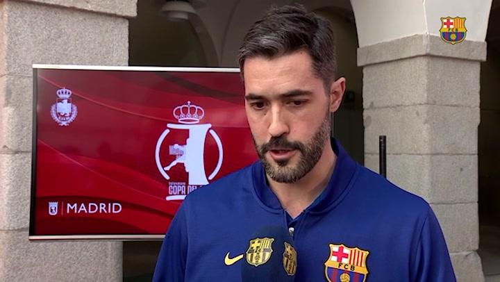 Raúl Entrerríos y Víctor Tomàs hablaron en la previa de la Copa del Rey ante el Granollers