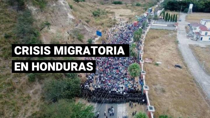 Crisis migratoria: Guatemala disuelve con el uso de la fuerza a caravana de migrantes hondureños