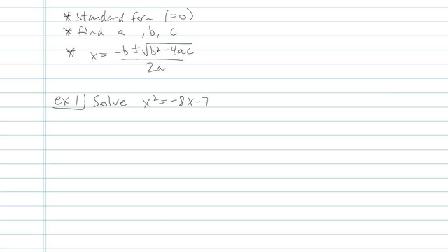 The Quadratic Formula - Problem 12