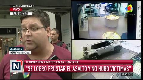 Pánico en Palermo por un feroz tiroteo en un intento de robo a un local