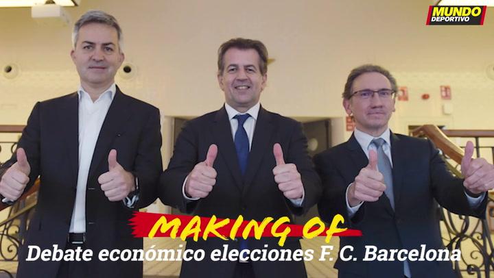 El 'making of' del debate económico electoral a la presidencia del Barça