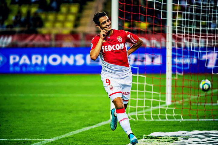 Wissam Ben Yedder se entrena con el Mónaco