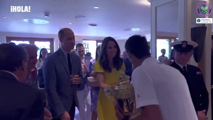 La conversación de los Duques de Cambridge con Novak Djokovic sobre sus hijos