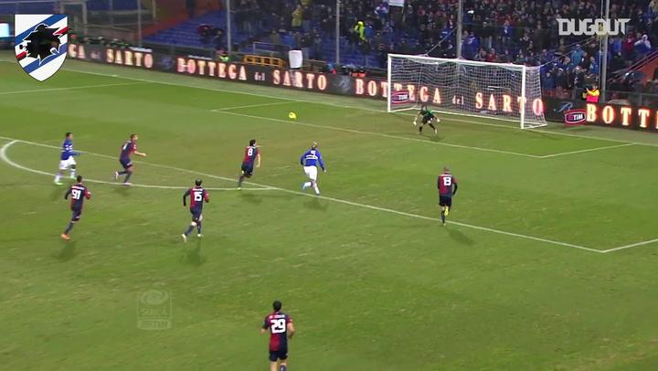 El gran gol de Maxi López en el Derby della Lanterna