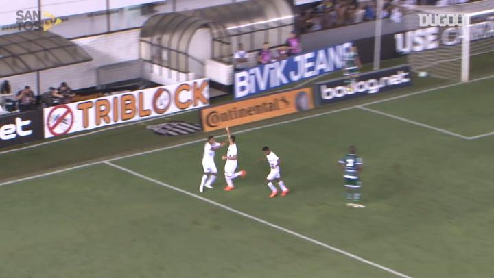 El gol de Yuri Alberto en la victoria del Santos ante el Luverdense