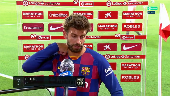 "Piqué: ""Va a ser difícil ganar esta Liga"""