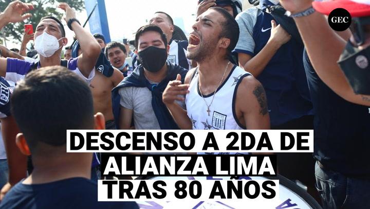 Alianza Lima desciende tras 80 años en la Liga 1
