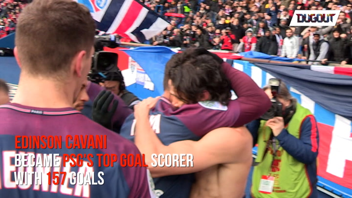 The Parisian fans conquered by Cavani