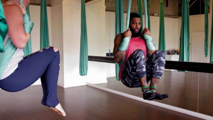 King Keraun Tries Aerial Fitness