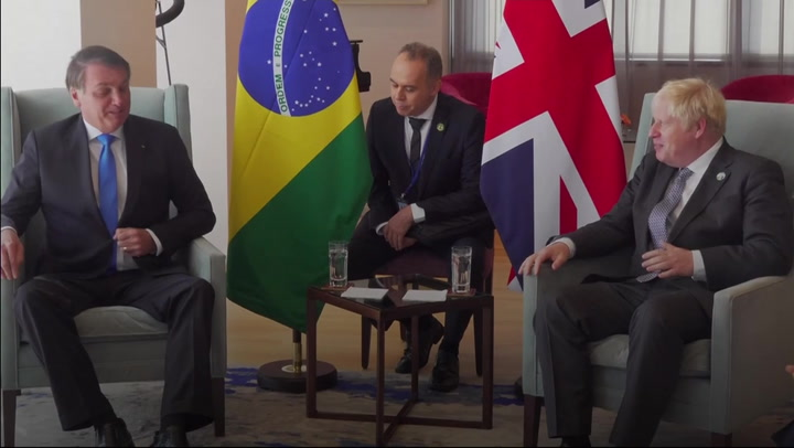 Brazil's health minister tests positive for Covid after meeting Boris Johnson