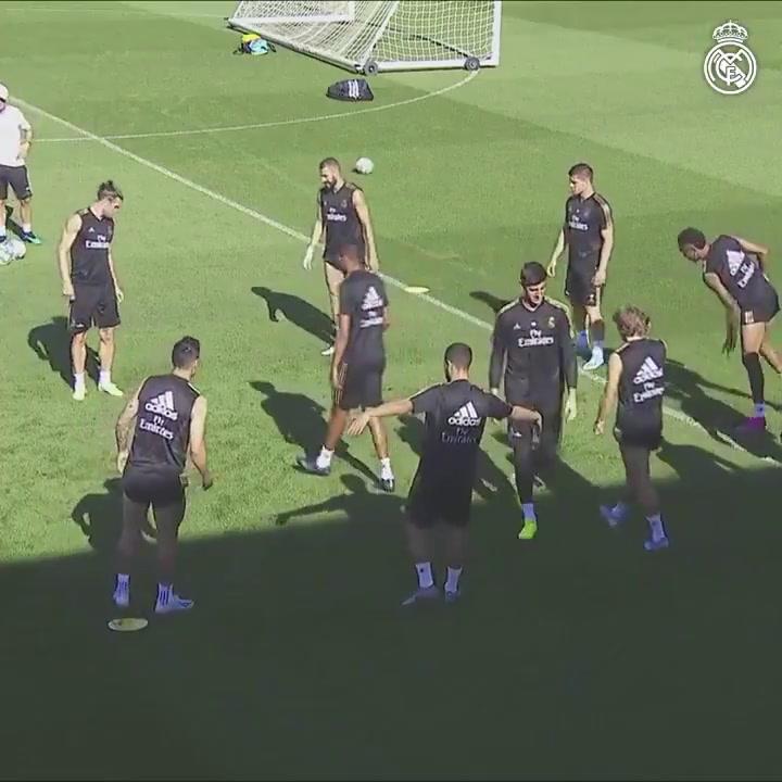 Entrenamiento del Real Madrid previo al partido contra el Celta