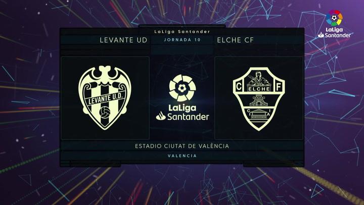 LaLiga Santander (J10): Resumen y goles del Levante 1-1 Elche