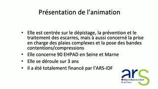 Dépistage et prévention des escarres, une expérience en EHPAD en Seine et Marne
