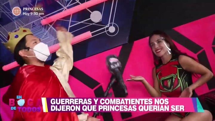 Guerreras y Combatientes contaron que princesas soñaban ser | VIDEO