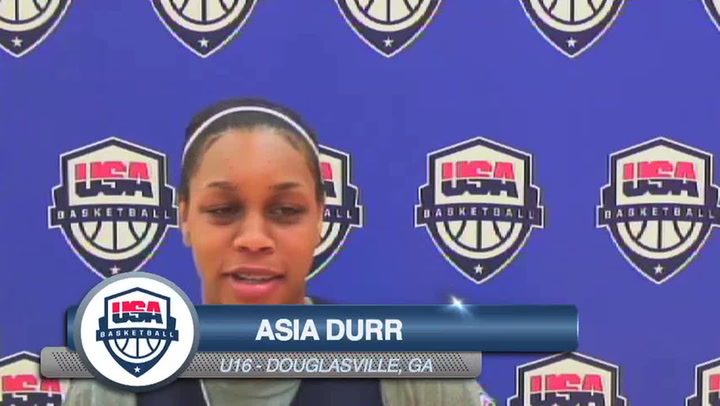 Asia Durr On Playing For Her Country