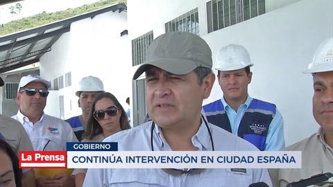 Continúa intervención en ciudad España